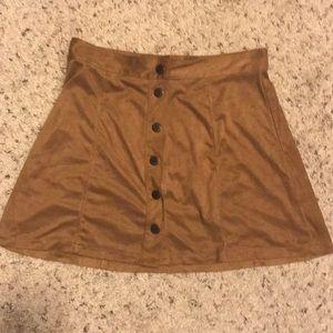 American Eagle Seude Tan Skirt